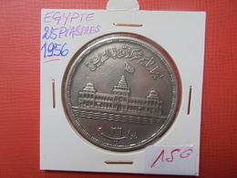 EGYPTE 25 PIASTRES 1956 ARGENT - Egitto