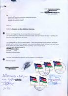 SOUTH SUDAN 2011 5x 1 SSP Nat. Flag Stamp On PO Box Application Südsudan Soudan Du Sud - Zuid-Soedan