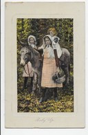 Young Girls With Donkey - Baby Up - Donkeys
