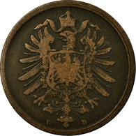Monnaie, GERMANY - EMPIRE, Wilhelm I, 2 Pfennig, 1873, Munich, TB+, Cuivre, KM:2 - [ 2] 1871-1918 : German Empire