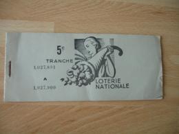 Loterie Nationale Carnet 8 Billet 100 Francs - Lottery Tickets