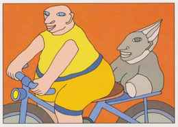 Cpm ERGON - Homme à Bicyclette - Vélo - Cyclisme - Illustrateurs - Illustrateur - Ergon