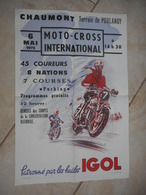 Chaumont - Terrain De Poulangy - Moto-cross International Du 6 Mai 1973 - Affiches