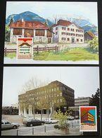 LIECHTENSTEIN 1990 MI-NR. 984/85 Maximumkarten MK/MC 93 - 1990