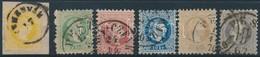 O 1867 2kr - 25kr 6 érték,  A 2 Kr Kivágáson (~83.000) - Stamps