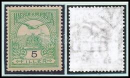 ** 1908 Turul 5f Számvízjellel, Nagy Ritkaság!  (68.000) / Number In Watermark - Stamps