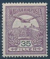 * 1913 Turul 35f Fekvő Vízjellel, Apró Falcnyommal  (45.000) - Stamps