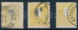 O 1858 3 Különböző Színárnyalatú 2kr I. (30.000) - Stamps