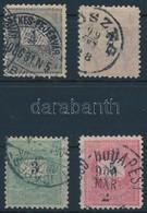 O 1899 1kr, 2kr, 3kr, 5kr 11 1/2 Fogazás (30.000) - Stamps