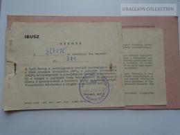 ZA192.29 Railway Ticket  Budapest - Magdeburg - 1968 -Szob-Galanta-Puchov-Kolin-Decin-Dresden-Leipzig  (2 Tickets) - Transportation Tickets