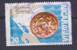 Nicaragua 1972 Mi. 1677   30c. Buntkeramiksammlung Aus Der Zeit Von Kolumbus Landkarte Map - Nicaragua