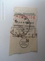 ZA192.30  Railway Ticket  VECSÉS  Hungary  1963 - Transportation Tickets