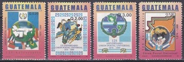 Guatemala 2002 Organisationen Postwesen Weltpostverein UPU Brieftaube Tauben Doves Fahnen Flaggen Flags, Mi. 1381-4 ** - Guatemala