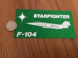 AUTOCOLLANT, Sticker «F104 Starfighter» (militaire, Armée De L'air, Avion) - Stickers