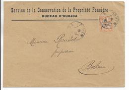 1919 - MAROC - MOUCHON SEUL Sur ENVELOPPE De OUDJA => BERKAINE - Morocco (1891-1956)