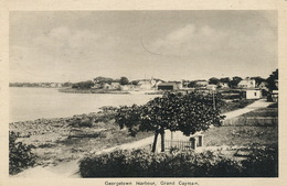 Grand Cayman , Georgetown Harbour  P. Used Stamped To Baron Gerard Vuillet 1939 - Caïman (Iles)