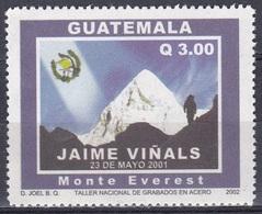 Guatemala 2002 Landschaften Landscapes Gebirge Berge Mount Everest Alpinismus Jaime Vinals, Mi. 1385 ** - Guatemala
