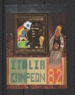 Centrafrique Bloc Doré 1983 Non Répertorié Yvert Vainqueur Coupe Du Monde Football Neuf ** MNH - Centrafricaine (République)