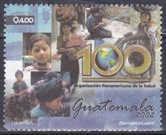 Guatemala 2002 Organisationen Zusammenarbeit Cooperation Panamerikanische Gesundheitsorganisation Health, Mi. 1386 ** - Guatemala