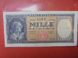 ITALIE 1000 LIRE 1947 PEU CIRCULER BELLE QUALITE ! - [ 2] 1946-… : Républic