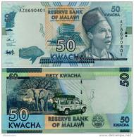 MALAWI       50 Kwacha       P-64c       1.1.2016       UNC  [aquamarine - Sign. Chuka] - Malawi
