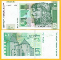 Croatia 5 Kuna P-37 2001 UNC Banknote - Croatia