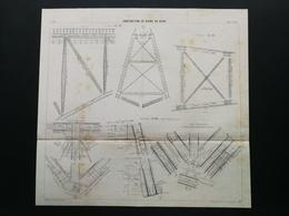 ANNALES DES PONTS Et CHAUSSEES (Dep 12) - Plan De Construction Du Viaduc De Viaur - Imp L.Courtier 1899 (CLE76) - Public Works