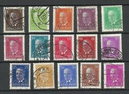 ESTLAND Estonia Estonie 1936-1940 Präsident Konstantin Päts, 15 Different O - Estonia