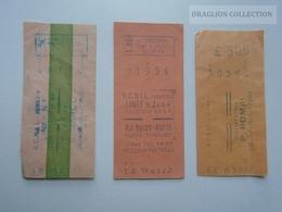 ZA192.35 VENEZIA  3 Tickets  -Corsa Semplice  A.C.N.I.L. 1959-1961 - Vervoerbewijzen