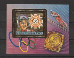 Centrafrique Bloc Doré 1984 Non Répertorié Yvert JO Sarajevo Neuf ** MNH - Centrafricaine (République)