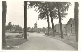 Mill, Dorpsweg  (met Molen)     (type Fotokaart) - Netherlands