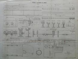 ANNALES DES PONTS Et CHAUSSEES (DEP 87) - Tramways électriques De Limoges - L. Courtier - 1900 (CLE78) - Máquinas