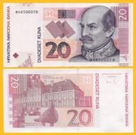 Croatia 20 Kuna P-39b 2012 UNC Banknote - Croatia