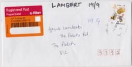 Australia 2016 Dinkum Alphabet A Is For .. Self-adhesive On Domestic Registered Letter - 2010-... Elizabeth II