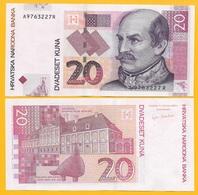 Croatia 20 Kuna P-39a 2001 UNC Banknote - Croatia