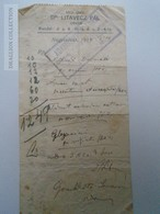 ZA192.37 Receipt  Med.Univ. Dr. Litavecz Pál Orvos - Nagyszénás 1935 - Hungary -Adamkovics Ádám Pharmacy - Old Paper