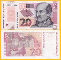 Croatia 20 Kuna P-44 2014 Commemorative Croatia 20th Anniversary UNC Banknote - Croatia