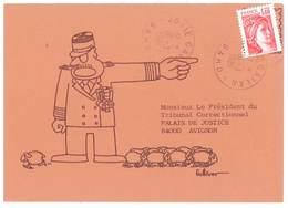Carte Pétition, Signée Gulliver, Militaire, Moutons, Larzac, Avignon  ( PO ) - Evènements