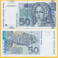 Croatia 50 Kuna P-40b 2012 UNC Banknote - Croatia