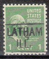 USA Precancel Vorausentwertung Preo, Locals Illinois, Latham 455 - Vereinigte Staaten