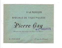 ENVELOPPE RETOUR PIERRE GAY TIGES PIQUEES à ISSOIRE PUY DE DOME - Marcophilie (Lettres)