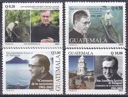 Guatemala 2003 Religion Christentum Persönlichkeiten Theologen Juristen Escrivá De Balaguer Y Albás, Mi. 1392-5 ** - Guatemala