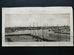 ANNALES DES PONTS Et CHAUSSEES (Dep 73) - Plan Du 3ème Bassin à Flot De ROCHEFORT - Gravé Par Dujardin - 1895 (CLE81) - Zeekaarten