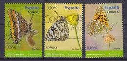 Spain 2011 Mi. 4573-74, 4576    0.65 € Butterfly Schmetterling Papillon - 1931-Heute: 2. Rep. - ... Juan Carlos I