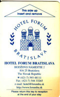 Slovakia - Slovaquie, Hotel Magnetic Keycard, Hotel Forum Bratislava - Cartes D'hotel