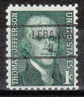 USA Precancel Vorausentwertung Preo, Locals Illinois, Lebanon 841 - Vereinigte Staaten