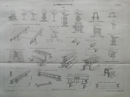 ANNALES DES PONTS Et CHAUSSEES (Etats-Unis) - Plan Des Tramways Aux Etats-Unis - Imp L.Courtier 1896 (CLE82) - Zeekaarten