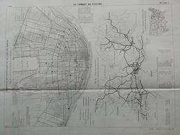 ANNALES DES PONTS Et CHAUSSEES (Etats-Unis) - Plan Des Tramways Aux Etats-Unis - Imp L.Courtier 1896 (CLE83) - Cartes Marines