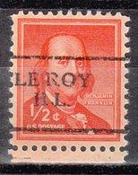 USA Precancel Vorausentwertung Preo, Locals Illinois, Le Roy 701 - Vereinigte Staaten