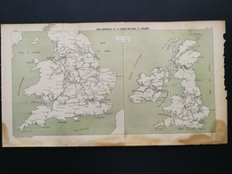ANNALES PONTS Et CHAUSSEES (Royaume Uni) - Plan Des Voies Navigables De La Grande Bretagne Et D'irlande - 1907 (CLE84) - Zeekaarten